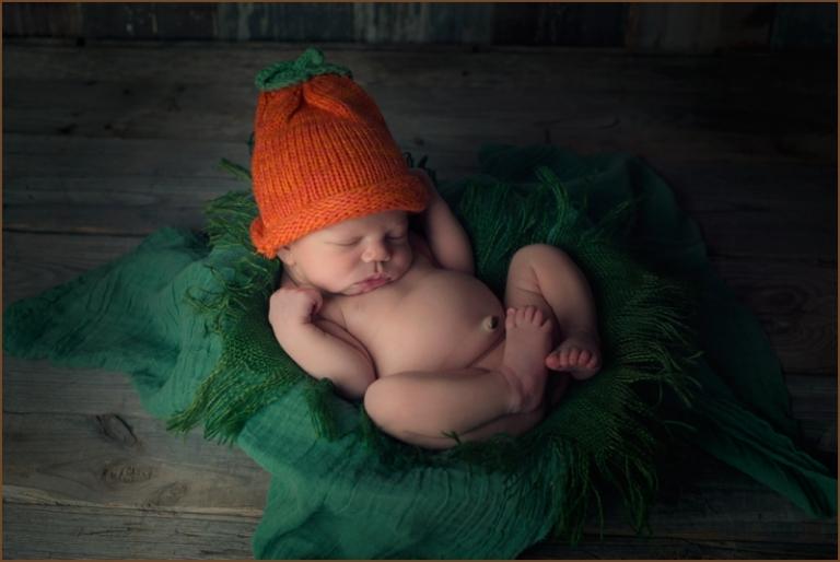 Halloween newborn photography